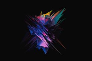 Glass Abstract Sharp Shapes 5k Wallpaper