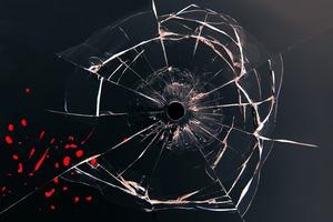 Glass Bullet Hole Wallpaper