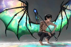 Glass Dragon Digital Art