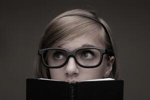 Glasses School Girl