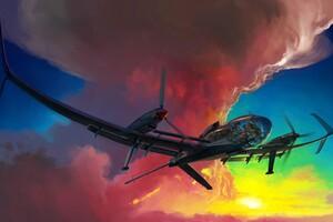 Glide Over Sunset 4k Wallpaper