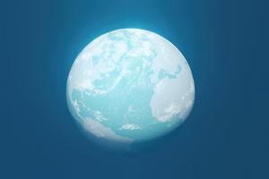 Globe Planet Minimal 4k Wallpaper