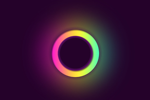 Glowing Circle Abstract 4k