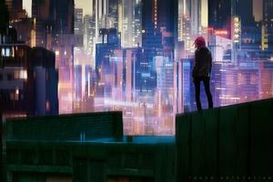 Glowing City 4k Wallpaper
