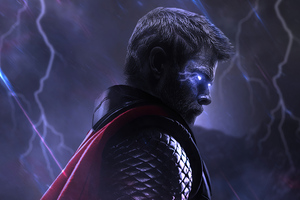 Glowing Eyes Thor 4k Wallpaper