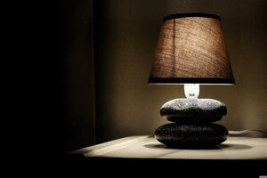 Glowing Lamp In Room Wallpaper