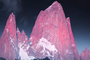 Glowing Peaks Of Patagonia Wallpaper