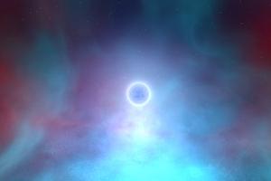 Glowing Planet Wallpaper
