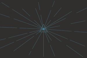 Glowing Triangle Lines 4k Wallpaper