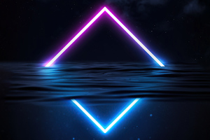 Glowing Triangle Neon Wallpaper