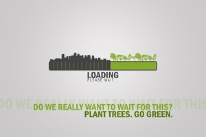 Go Green Inspirational Typography
