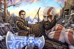 God Of War 10k Artwork Wallpaper