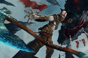 God Of War 4 Artwork Wallpaper