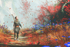 God Of War 4 Atreus Wallpaper