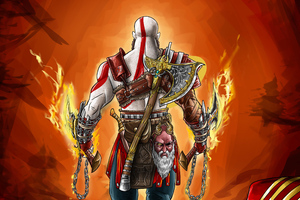God Of War 4 Digital Art 4k Wallpaper