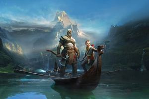 God Of War 4 Key Art 4k Wallpaper