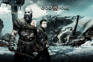 God Of War 4 Kratos And Atreus Wallpaper