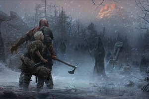 God Of War 4 Ps4 Concept Art 5k