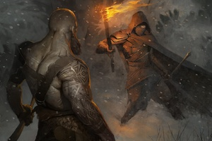 God Of War 4 Video Game Artwork