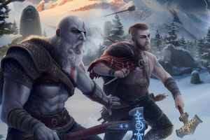 God Of War 4k Artwork Wallpaper