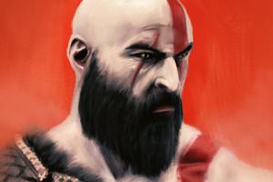 God Of War Kratos Art Wallpaper