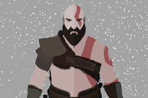 God Of War Kratos Minimalist 4k