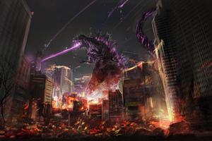 Godzilla Fan Art Wallpaper