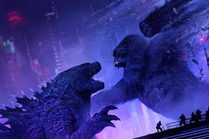 Godzilla V Kong Wallpaper