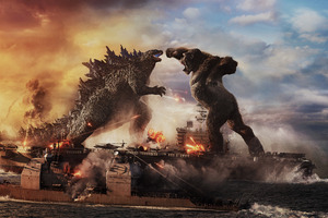 Godzilla Vs Kong Fight 8k Wallpaper