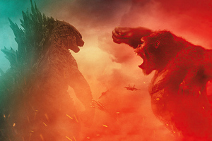 Godzilla Vs Kong Fight Scene 4k Wallpaper