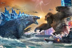 Godzilla Vs Kong Movie 2021 5k Wallpaper