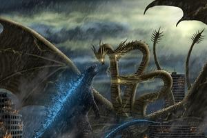 Godzilla Vs Monsters Wallpaper