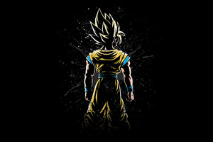 Goku Back Wallpaper