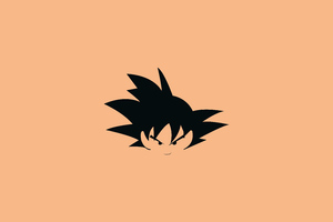 Goku Flat Minimal 8k Wallpaper