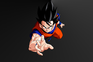 Goku Minimal Dark 5k Wallpaper
