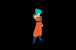 Goku Minimalism 8k