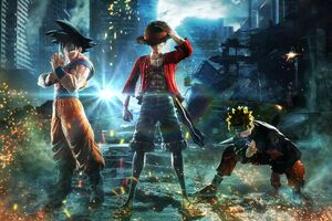 Goku Monkey D Luffy Naruto Jump Force 8k Wallpaper