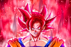 Goku Super Saiyan God 5k Wallpaper