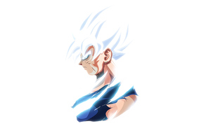 Goku Ultra Instinct Dragon Ball Minimal 4k Wallpaper
