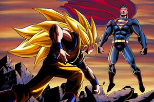 Goku Vs Superman Wallpaper