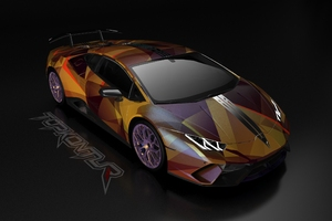 Gold And Wine Lamborghini Huracan