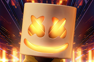 Gold Marshmello Wallpaper