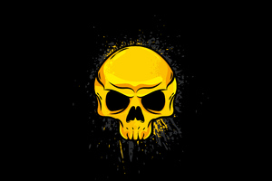 Gold Skull 4k Wallpaper