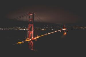 Golden Gate Bridge At Night Time Wallpaper