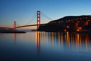 Golden Gate Bridge Evening 5k Wallpaper