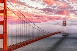 Golden Gate Bridge Morning 4k