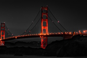 Golden Gate Bridge San Francisco Night
