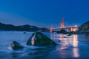 Golden Gate Bridge Sunset 8k Wallpaper