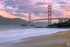 Golden Gate Viewed From Beach Wallpaper