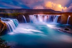 Gooafoss Iceland Waterfall